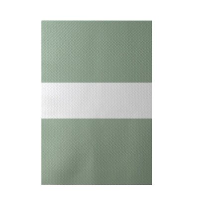 Narrow the Gap Stripe Print Pale Celery Indoor/Outdoor Area Rug Rug Size: 5 x 7