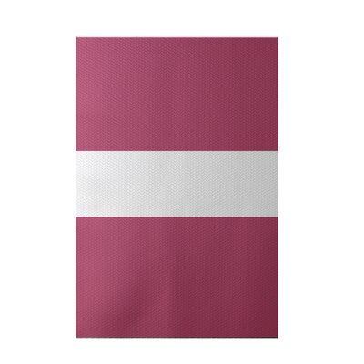 Narrow the Gap Stripe Print Pink Cheeks Indoor/Outdoor Area Rug Rug Size: 3 x 5
