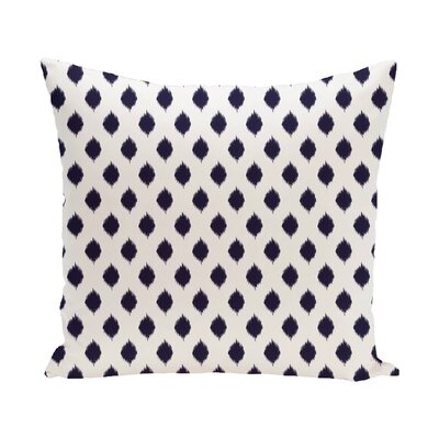 Cop-Ikat Geometric Print Outdoor Pillow Color: Spring Navy, Size: 16 H x 16 W x 1 D