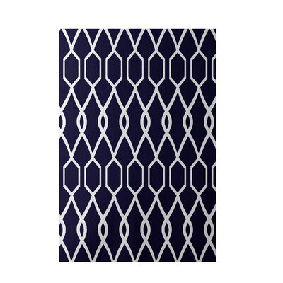 Charleston Geometric Print Spring Navy Indoor/Outdoor Area Rug Rug Size: 4 x 6