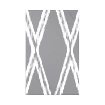Gate Keeper Geometric Print Polyester Fleece Throw Blanket Size: 60 L x 50 W x 0.5 D, Color: Classic Gray