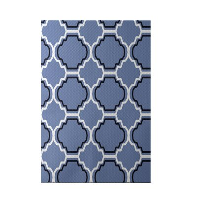 Road to Morocco Geometric Print Cornflower Indoor/Outdoor Area Rug Rug Size: 5 x 7