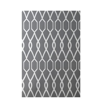 Charleston Geometric Print Classic Gray Indoor/Outdoor Area Rug Rug Size: 2 x 3