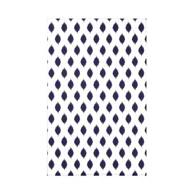 Cop-Ikat Polyester Fleece Throw Blanket Size: 60 L x 50 W x 0.5 D, Color: Spring Navy