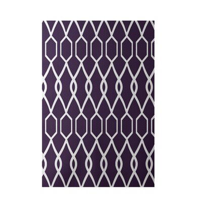 Charleston Geometric Print Grape Indoor/Outdoor Area Rug Rug Size: 5 x 7