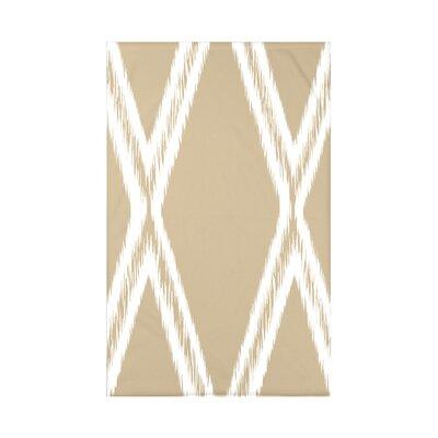 Gate Keeper Geometric Print Polyester Fleece Throw Blanket Size: 60 L x 50 W x 0.5 D, Color: Khaki