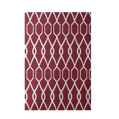 Charleston Geometric Print Brick Indoor/Outdoor Area Rug Rug Size: Rectangle 3 x 5