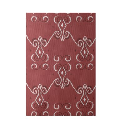 On the Line Print Red Indoor/Outdoor Area Rug Rug Size: 5 x 7