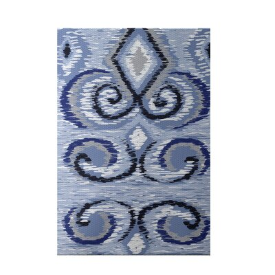 Ikats Meow Geometric Print Blue Indoor/Outdoor Area Rug Rug Size: Rectangle 3 x 5