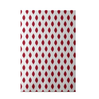 Cop-Ikat Red Indoor/Outdoor Area Rug Rug Size: 3 x 5
