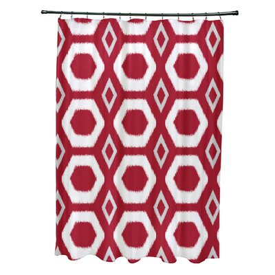 More Hugs and Kisses Geometric Print Shower Curtain Color: Formula One
