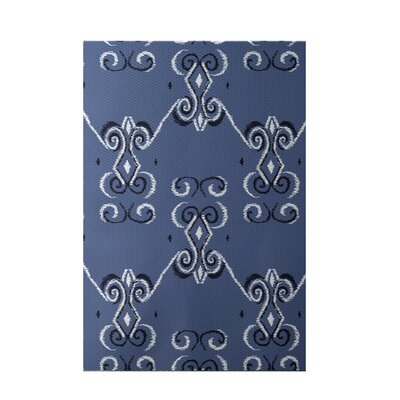 On the Line Print Cadet Indoor/Outdoor Area Rug Rug Size: 2 x 3