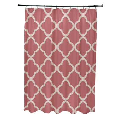 Marrakech Express Geometric Print Shower Curtain Color: Seed