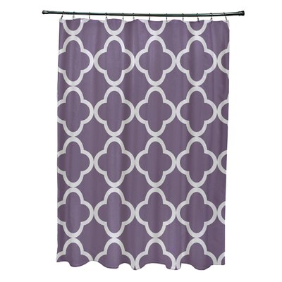 Marrakech Express Geometric Print Shower Curtain Color: Larkspur