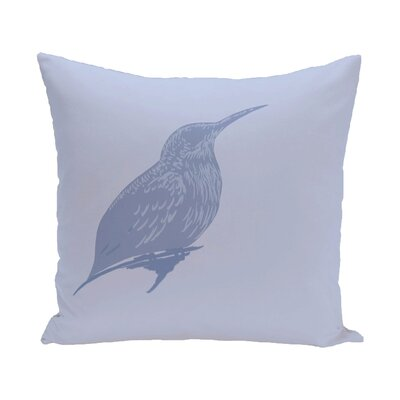 Colibri Print Throw Pillow Size: 16 H x 16 W x 1 D, Color: Blue