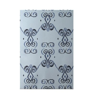 On the Line Blue Indoor/Outdoor Area Rug Rug Size: 2 x 3