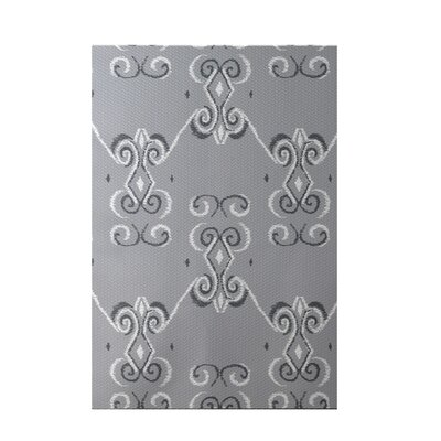 On the Line Rain Cloud Gray Indoor/Outdoor Area Rug Rug Size: 2 x 3