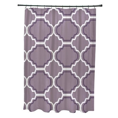 Road to Morocco Geometric Print Shower Curtain Color: Smog