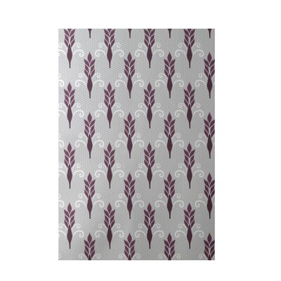 Friendship Floral Geometric Print Plum Indoor/Outdoor Area Rug Rug Size: 4 x 6