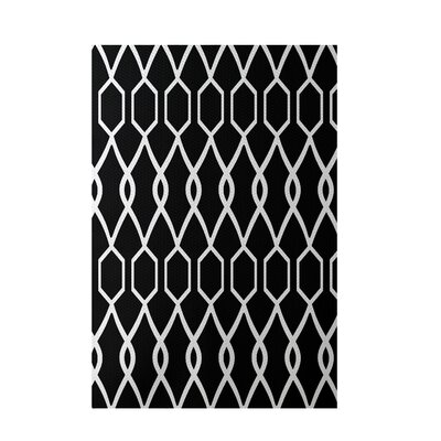 Charleston Geometric Black Indoor/Outdoor Area Rug Rug Size: 3 x 5