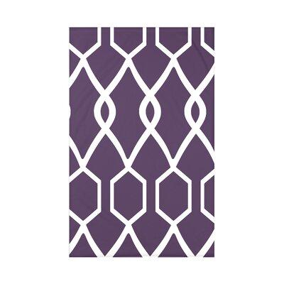 Charleston Geometric Print Polyester Fleece Throw Blanket Size: 60 L x 50 W x 0.5 D, Color: Grape
