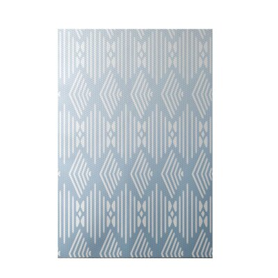 Fishbones Geometric Print Washed Out Indoor/Outdoor Area Rug Rug Size: 5 x 7