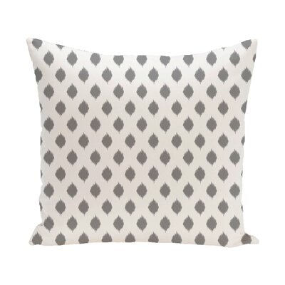 Cop-Ikat Geometric Print Outdoor Throw Pillow Color: Classic Gray, Size: 18 x 18