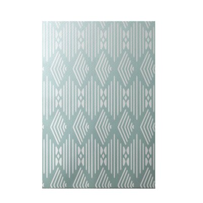 Fishbones Geometric Print Seaside Indoor/Outdoor Area Rug Rug Size: 5 x 7