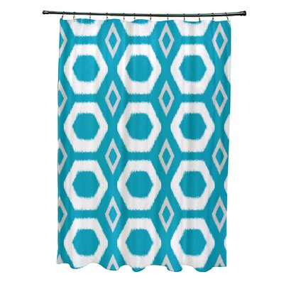 More Hugs and Kisses Geometric Print Shower Curtain Color: Caribbean