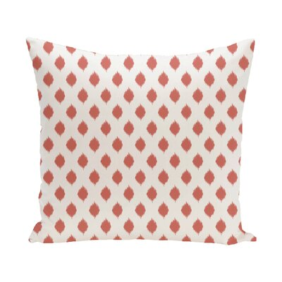 Cop-Ikat Geometric Print Outdoor Throw Pillow Color: Seed, Size: 16 x 16