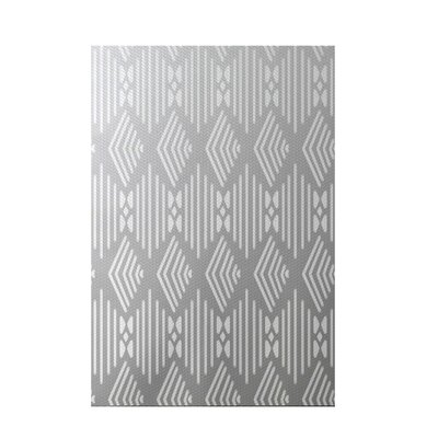 Fishbones Geometric Print Rain Cloud Indoor/Outdoor Area Rug Rug Size: 5 x 7