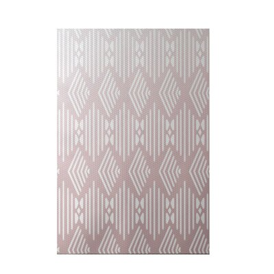 Fishbones Geometric Print Blush Indoor/Outdoor Area Rug Rug Size: 4 x 6
