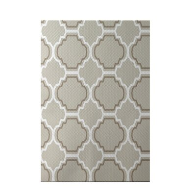 Road to Morocco Geometric Print Latte Indoor/Outdoor Area Rug Rug Size: 4 x 6
