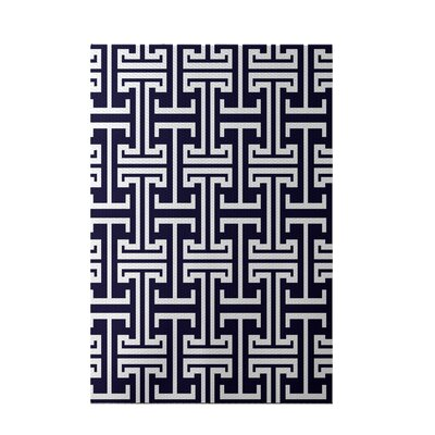Greek Isles Geometric Print Spring Navy Indoor/Outdoor Area Rug Rug Size: 2 x 3