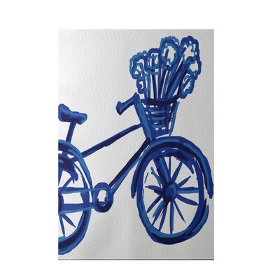 La Bicicleta Geometric Print Dazzling Blue Indoor/Outdoor Area Rug Rug Size: Rectangle 3 x 5