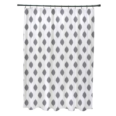 Cop-Ikat Geometric Print Shower Curtain Color: Classic Gray
