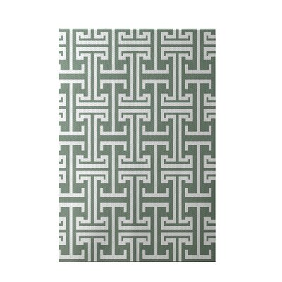 Greek Isles Geometric Print Dusty Miller Indoor/Outdoor Area Rug Rug Size: 3 x 5