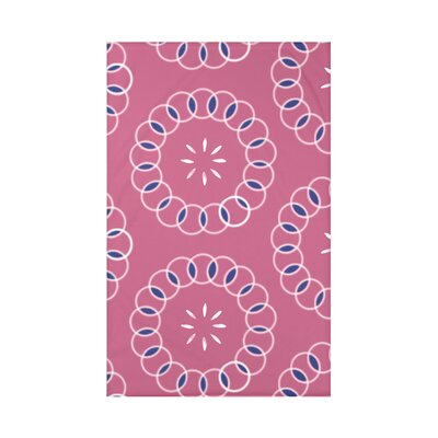 Happiness Is� Floral Print Polyester Fleece Throw Blanket Size: 60 L x 50 W x 0.5 D, Color: Pink Cheeks