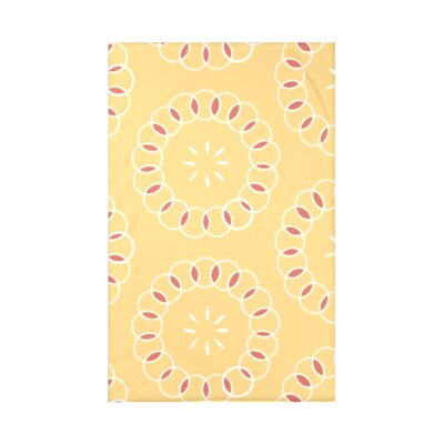 Happiness Is� Floral Print Polyester Fleece Throw Blanket Size: 60 L x 50 W x 0.5 D, Color: Lemon