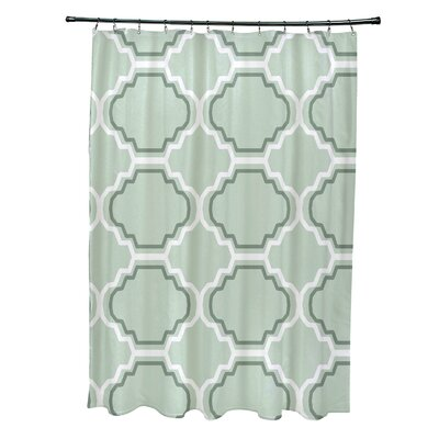 Road to Morocco Geometric Print Shower Curtain Color: Half Pint
