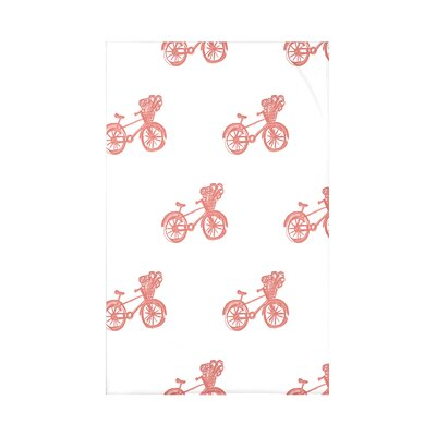 Bicycles! Geometric Print Polyester Fleece Throw Blanket Size: 60 L x 50 W x 0.5 D, Color: Seed