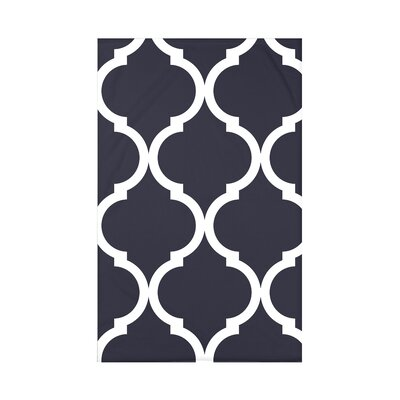 French Quarter Geometric Print Polyester Fleece Throw Blanket Size: 60 L x 50 W x 0.5 D, Color: Bewitching