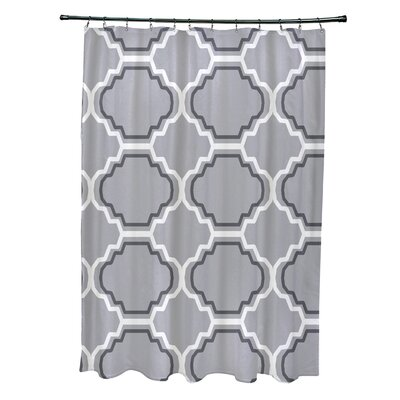 Road to Morocco Geometric Print Shower Curtain Color: Rain Cloud