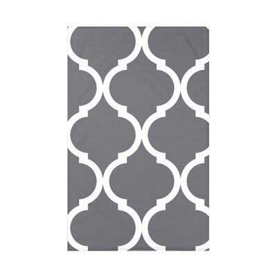 French Quarter Geometric Print Polyester Fleece Throw Blanket Size: 60 L x 50 W x 0.5 D, Color: Steel