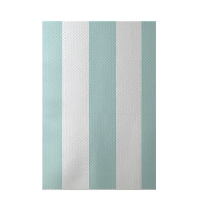 Caymen Stripe Print Seaside Indoor/Outdoor Area Rug Rug Size: 5 x 7