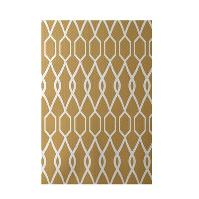 Charleston Geometric Print Dijon Indoor/Outdoor Area Rug Rug Size: 4 x 6