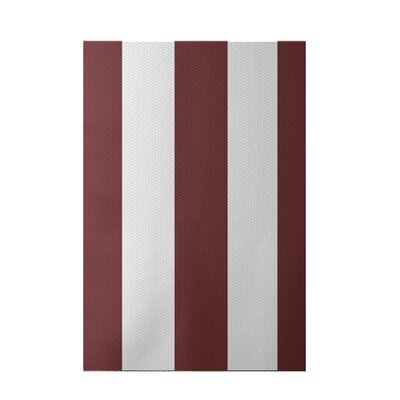 Caymen Stripe Print Mahogany Indoor/Outdoor Area Rug Rug Size: 5 x 7