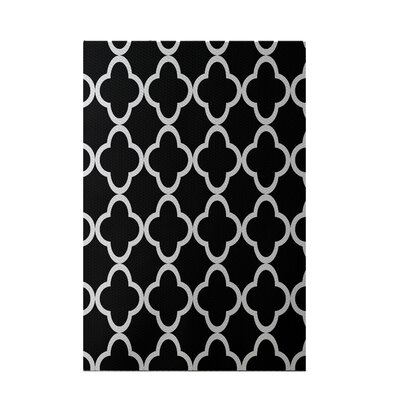 Marrakech Express Geometric Print Black/Silver Indoor/Outdoor Area Rug Rug Size: 3' x 5'