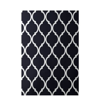 French Quarter Bewitching Navy Indoor/Outdoor Area Rug Rug Size: 4 x 6