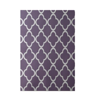 Marrakech Express Geometric Print Violet Indoor/Outdoor Area Rug Rug Size: 2 x 3